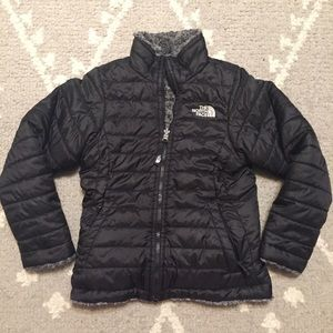 The North Face Black Reversible Puffer Zip Jacket